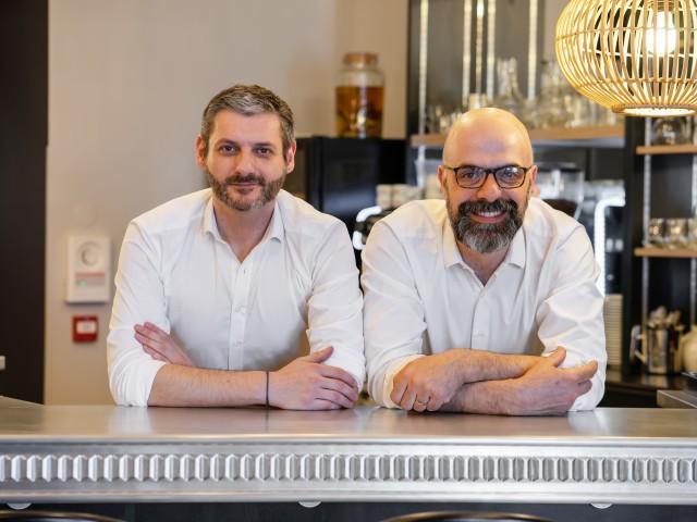 Côté Zinc Armel Responsable de salle et Frédéric LAFON Chef de cuisine